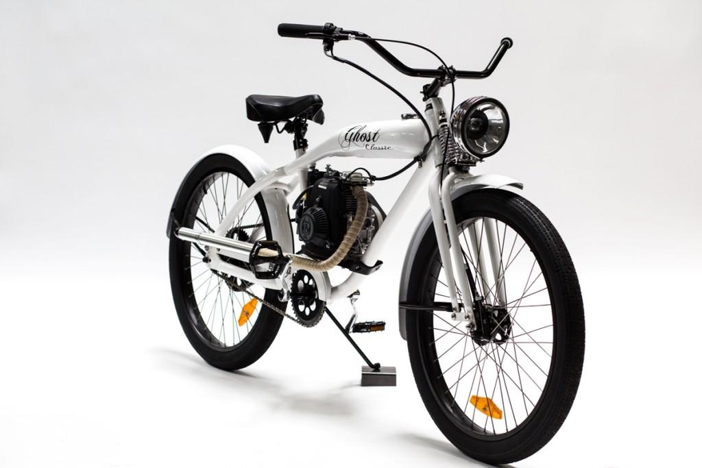 Phantom white classic 1200 phantom bikes for Motorized bicycle laws california