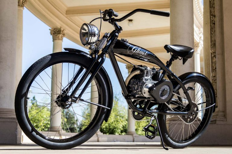 Ghost Classic, a gas powered bicycle by Phantom Bikes