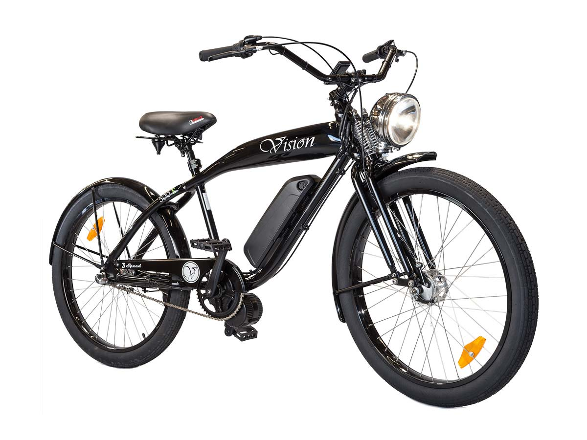 Phantom vision electric motor beach cruiser phantom bikes for Bicycles with electric motors