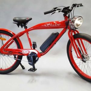 Phantom Shadow Electric Motorized Bicycle in Red