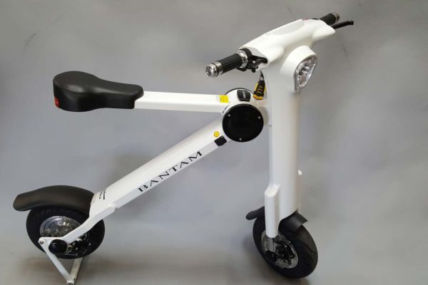 The fold-up Phantom Bantam electric bicycle by Phantom Bikes