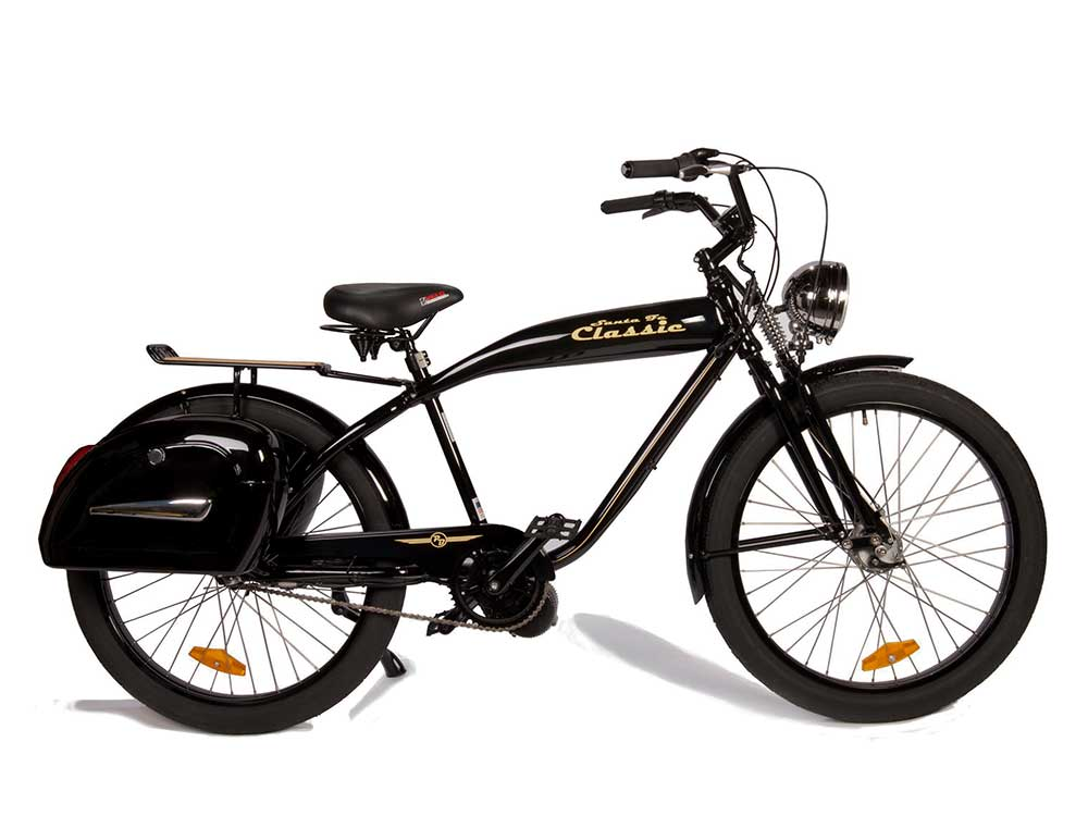Electric Motor For Bicycle >> Santa Fe Classic Powerful Electric Cruiser Bike Phantom Bikes