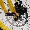 Front disc brakes on a yellow Phantom 1910 e-bike