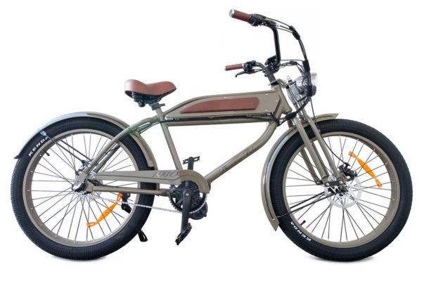 Phantom 1910 e-bike is olive color