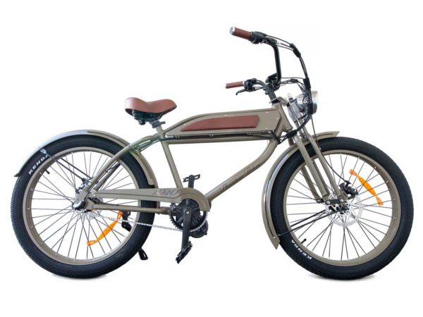 Phantom 1910 e-bike is olive color