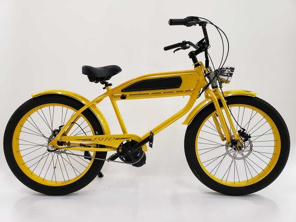 Yellow Phantom 1910 electric bike