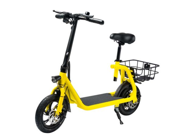 The Phantom C1 e-scooter in yellow