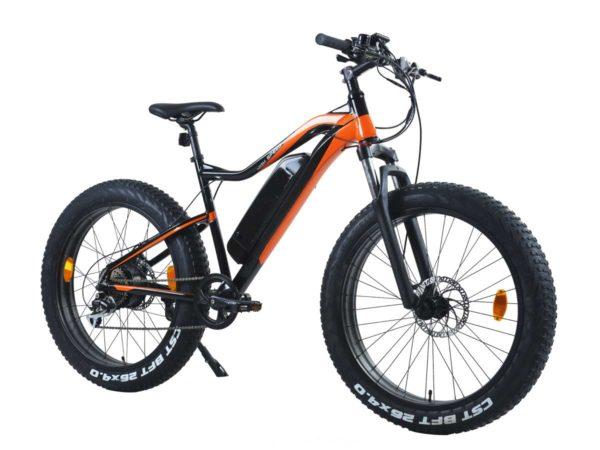 Phantom Warrior e-bike in orange and black