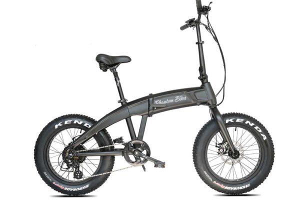 The Phantom Hummer folding e-bike in black color