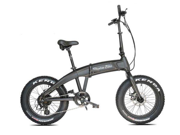 The Phantom Hummer folding e-bike in black color